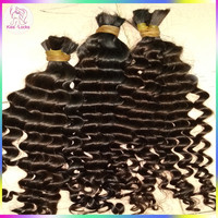 Honest Hair Supplier RAW Virgin Bulk Indian Human Hair Loose deep curls WIthout Wefts Extension Wholesale Prices