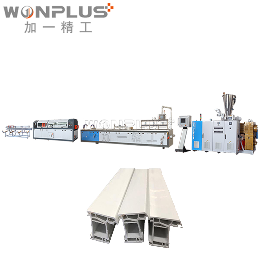 UPVC window door frame making machine/ pvc profile extrusion <strong>line</strong> for window/pvc window profile extruder