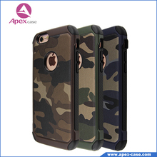 For iphone 6 camo case slim armor camouflage 2 in 1 hybrid cover phone cases for iphone 4 5 5s 6 6s plus