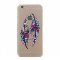 Elegant Design TPU case for iPhone 6 Plus Clear and Beautiful Leaves Dandelion