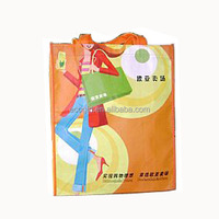 wholesale hot sale customized OEM recyclable colorful picture offset printing non-woven pp plastic shopping bag