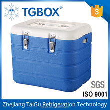 17L Blood Transporation Cooler Box PU Leather Cold Storage Box