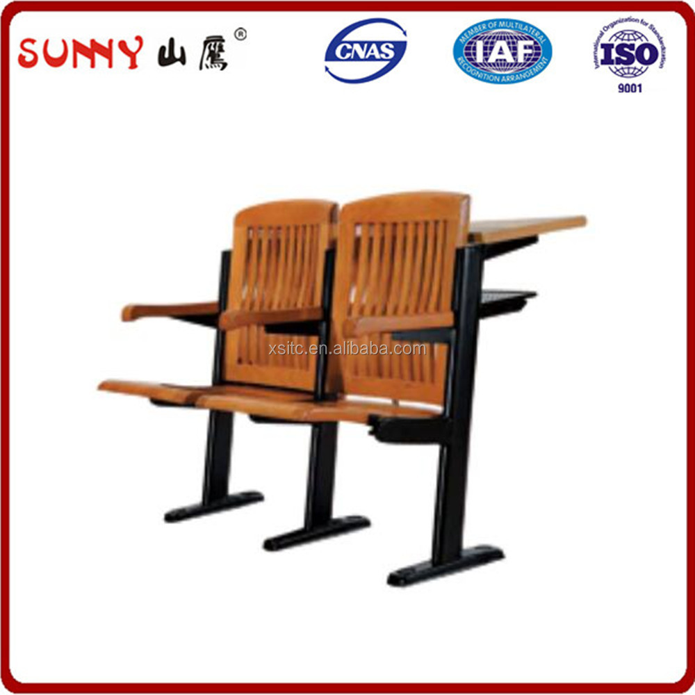 Solid wood Comfortable Conference Lecture Hall Auditorium Foldable Chair