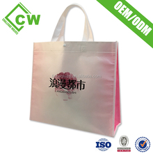 Customized printing recycled promotional shopping tote non woven bag/bag promotion