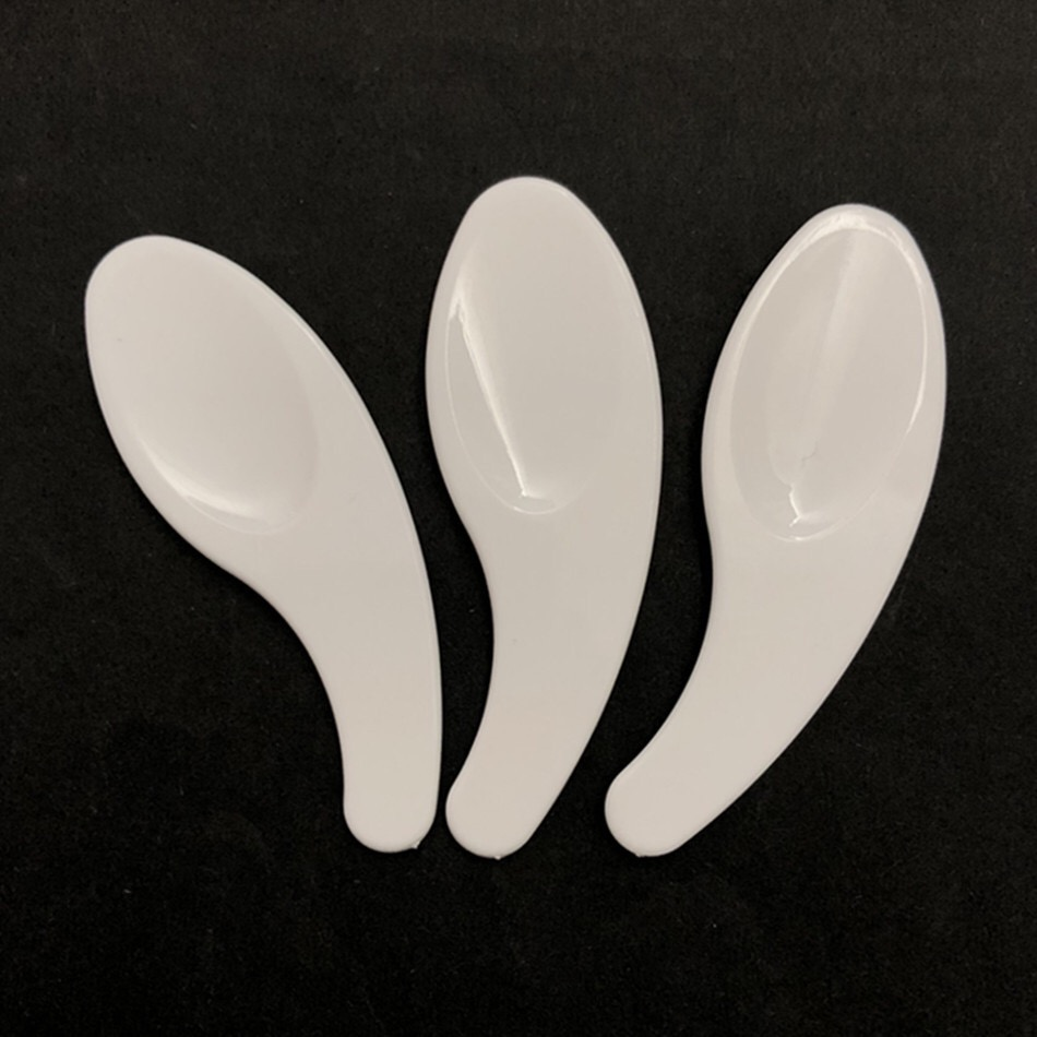 67mm plastic white cosmetic cream spatula, Makeup tool, facial mask spoon