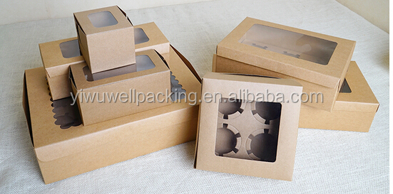 Cheap price cupcake box series, Kraft cupcake box series ,China price mini paper cupcake box novelty products for import
