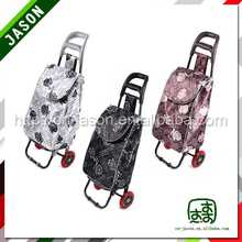 foldable shopping trolley promotional canvas smart tote travel bag