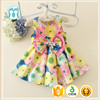 cotton sleeveless skirt bowknot short dress princess baby girl dress designs