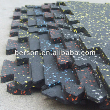 interlocking rubber mat for gym, Interlocking anti silp rubber matting for Gym Center,Indoor Gym Rubber Mats/ Indoor Gym Interlo
