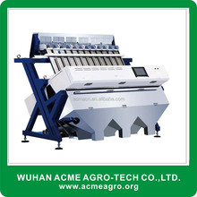 Modern new agricultural machine coffee beans, dried fruit, color sorter