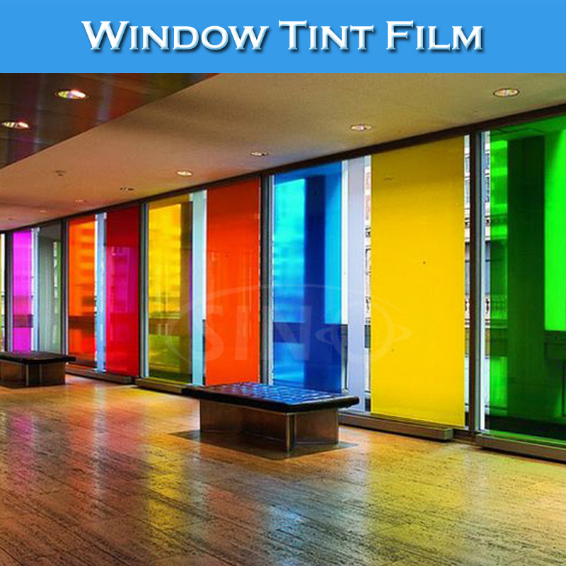 Hot Sale Self Adhesive PET Material Office Window Glass Decoartion Film