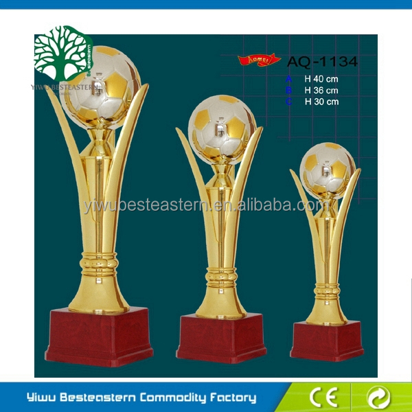 Hot Selling Supplier Trophy Parts, Wood With Metal Trophy, Cheap Wood With Metal Trophy