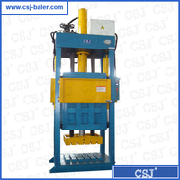 Waste rags press vertical hydraulic used clothes baling machine