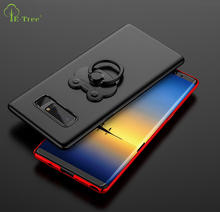 Luxury Ultra thin PC matte stand case for Samsung Galaxy Note 8, Hard plastic shockproof cover case for Galaxy Note 8 with ring