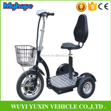 2017NEW 500W48V three wheel electric scooter/zappy 3 wheel electric scooter for handciped with CE/Rohs YXEB-712