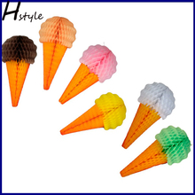 2014 Summer Party Decorations Novelty Paper Ice Cream Cone SD046