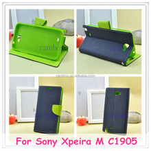 Luxury Wallet Leather Flip Case Cover Pouch Stand for Sony Xperia Z L30H for Sony Xpeira M C1905