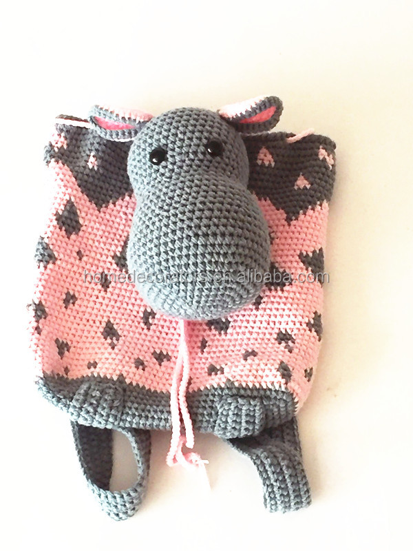 Handmade Crochet Hippo Backpack Cute And Practical Accessory For