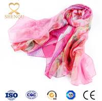 Large hijab polyester gift for women online shopping custom design silk chiffon scarf wholesale printed dubai shawl