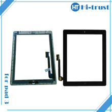 Home Button and Adhesive Sticker free shipping by DHL! Best Quality touch screen replacement for ipad 3 touch screen