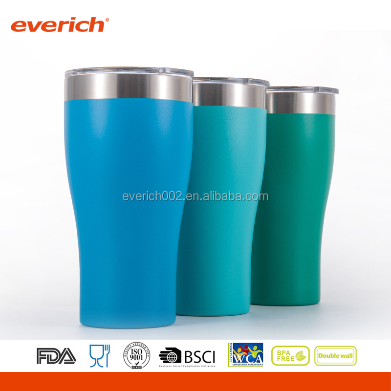 double wall insulated stainless steel metal beer drinking cup