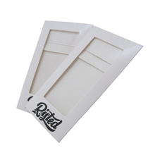custom logo clear PVC window white card paper envelope
