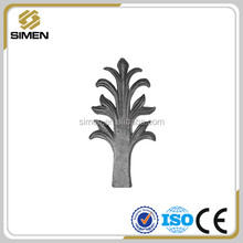 cast steel fence parts wrought iron flowers and leaves