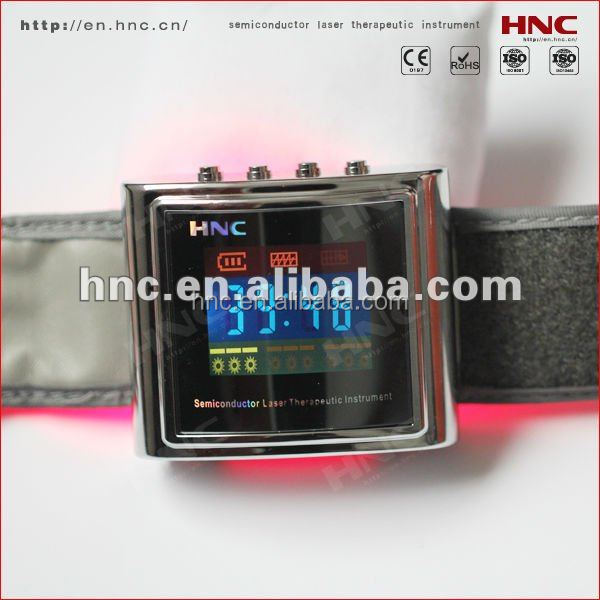 clinical test 650nm low level laser therapy equipment treat hypertension cholesterol diabetic blood pressure control watch