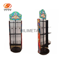 Professional Cheap POP Card Revolving Wire Rack/Book Display Stand