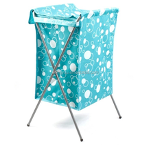 Foldable Laundry Hamper with Lid/Cover Collapsible Laundry Basket with X Frame