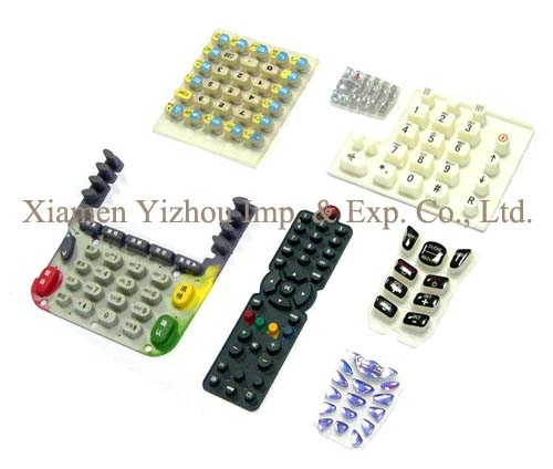 Waterproof silicone rubber keypad for remote