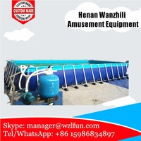Brand new swimming pools above ground swimming pools pvc metal frame pool with low price