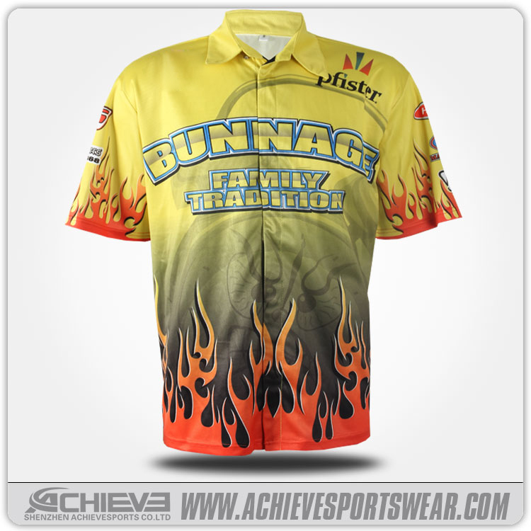 Full snap sublimation motorcycle jersey motorcycle racing suit