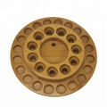 round multiple layer Custom Holes for Bottle Essential Oil Wood Display Rack