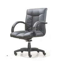Office Furniture New Modern Black Leather/Leather Match Mid-Back Easy Mobility Office Chair HY3205