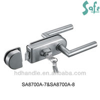 stainless steel glass door with door lock parts
