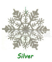Christmas decoration plastic glitter snowflake ornaments
