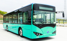 High performance BYD 10.8 meters electric bus new energy bus
