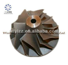 Aluminum die casting impeller used for helicopter