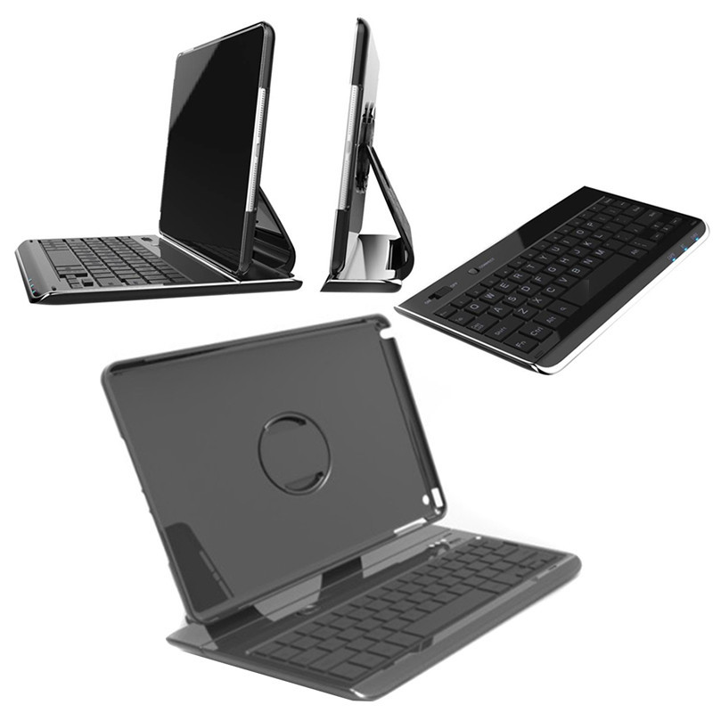 Black 360 Rotating Protector Case bluetooth keyboard for iPad Air 2