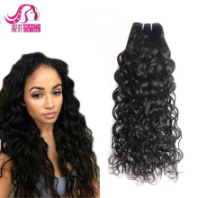 100% Unprocessed Peruvian Virgin Hair Water Wave Curly Weave Human Hair Bundle Natural Color Shedding Free Tangle Free