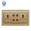 13A 2 Gang Multi-function Switched Socket with Neon