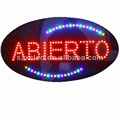 ABIERTO Spanish Shop Show Window Oval LED Open Sign Light