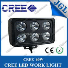 Square shape 7'' 60w led work light for truck off road 4x4 JEEP can be work between 12-24V fog light