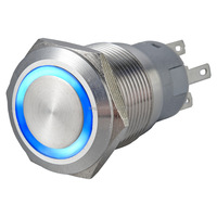 19mm momentary led push button switch,120v push button switch