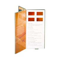 Factory sale customized Acrylic plexiglass sign holders Clear Table Tent plexiglass sign holders