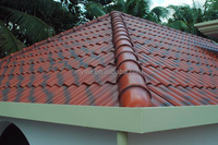 chinese glazed ceramic double roman roof tiles