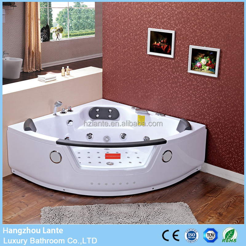wholesale cheap price glass jet whirlpool bathtub with TV option