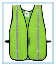 100% polyester mesh high visibility reflective green safety vest