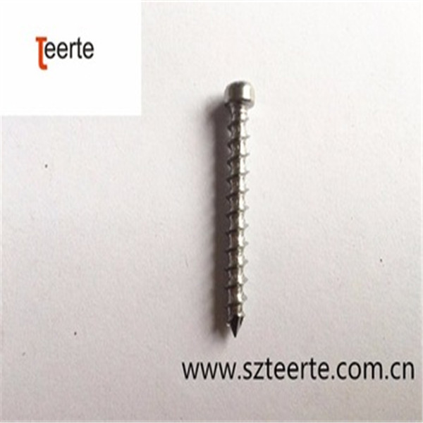 headless dowel copper wood screw